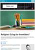 Religion: Et fag for fremtiden?