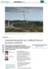 Samfunnskontrakt om vindkraft kan gi grønnere industri