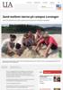 Sand mellom tærne på campus Levanger
