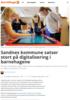 Sandnes kommune satser stort på digitalisering i barnehagene
