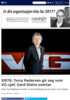 SISTE: Torry Pedersen gir seg som VG-sjef. Gard Steiro overtar