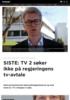 SISTE: TV 2 søker ikke på regjeringens tv-avtale