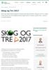 Skog og Tre 2017