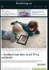 - Småbarn bør ikke se på TV og nettbrett