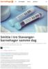 Smitte i tre Stavanger-barnehager samme dag
