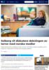 Solberg vil diskutere dekningen av terror med norske medier