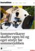 Sommervikarer skaffer egen bil og eget utstyr før sommerjobben
