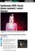 Spellemann 2019: Første kvinne nominert i metal-klassen