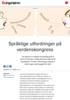 Språklige utfordringer på verdenskongress