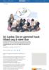 Sri Lanka: Da en gammel hauk tilbød seg å være due