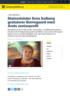 Statsminister Erna Solberg gratulerer Borregaard med Årets seniorprofil