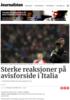 Sterke reaksjoner på avisforside i Italia
