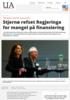 Stjernø refset Regjeringa for mangel på finansiering