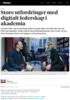 Store utfordringer med digitalt lederskap i akademia