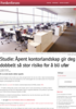 Studie: Åpent kontorlandskap gir deg dobbelt så stor risiko for å bli ufør