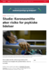 Studie: Koronasmitte øker risiko for psykiske lidelser