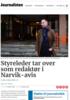 Styreleder tar over som redaktør i Narvik-avis