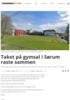 Taket på gymsal i Sørum raste sammen