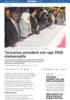 Tanzanias president sier opp 9900 statsansatte