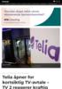 Telia åpner for kortsiktig TV-avtale - TV 2 reagerer kraftig på fremstøtet