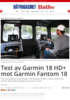 Test av Garmin 18 HD+ mot Garmin Fantom 18