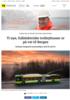 Ti nye, fullelektriske trolleybusser er på vei til Bergen