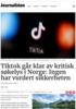 Tiktok går klar av kritisk søkelys i Norge: Ingen har vurdert sikkerheten