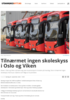 Tilnærmet ingen skoleskyss i Oslo og Viken