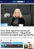 Tone Sofie Aglen om starten på journalistkarrieren: - Jeg gråt på kontoret og angret dypt og inderlig