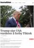 Trump sier USA vurderer å forby Tiktok