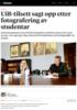 UiB-tilsett sagt opp etter fotografering av studentar