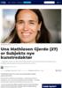 Una Mathiesen Gjerde (27) er Subjekts nye kunstredaktør