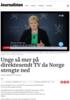 Unge så mer på direktesendt TV da Norge stengte ned