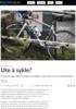 Ute å sykle?