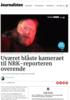 Uværet blåste kameraet til NRK-reporteren overende