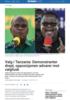 Valg i Tanzania: Demonstranter drept, opposisjonen advarer mot valgfusk