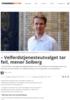 - Velferdstjenesteutvalget tar feil, mener Solberg