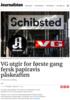 VG utgir for første gang fersk papiravis påskeaften