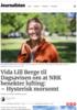 Vida Lill Berge til Dagsavisen om at NRK benekter lufting: - Hysterisk morsomt