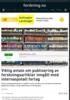 Viktig avtale om publisering av forskningsartikler inngått med internasjonalt forlag