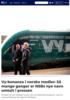 Vy-bonanza i norske medier: Så mange ganger er NSBs nye navn omtalt i pressen