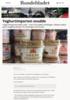 Yoghurtimporten snudde